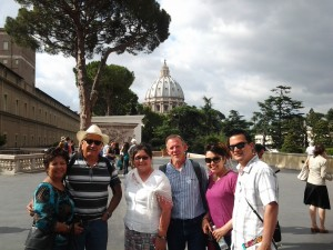 A lovely family in the Vatican with us