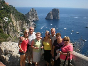 A gorgeous family in Capri with us